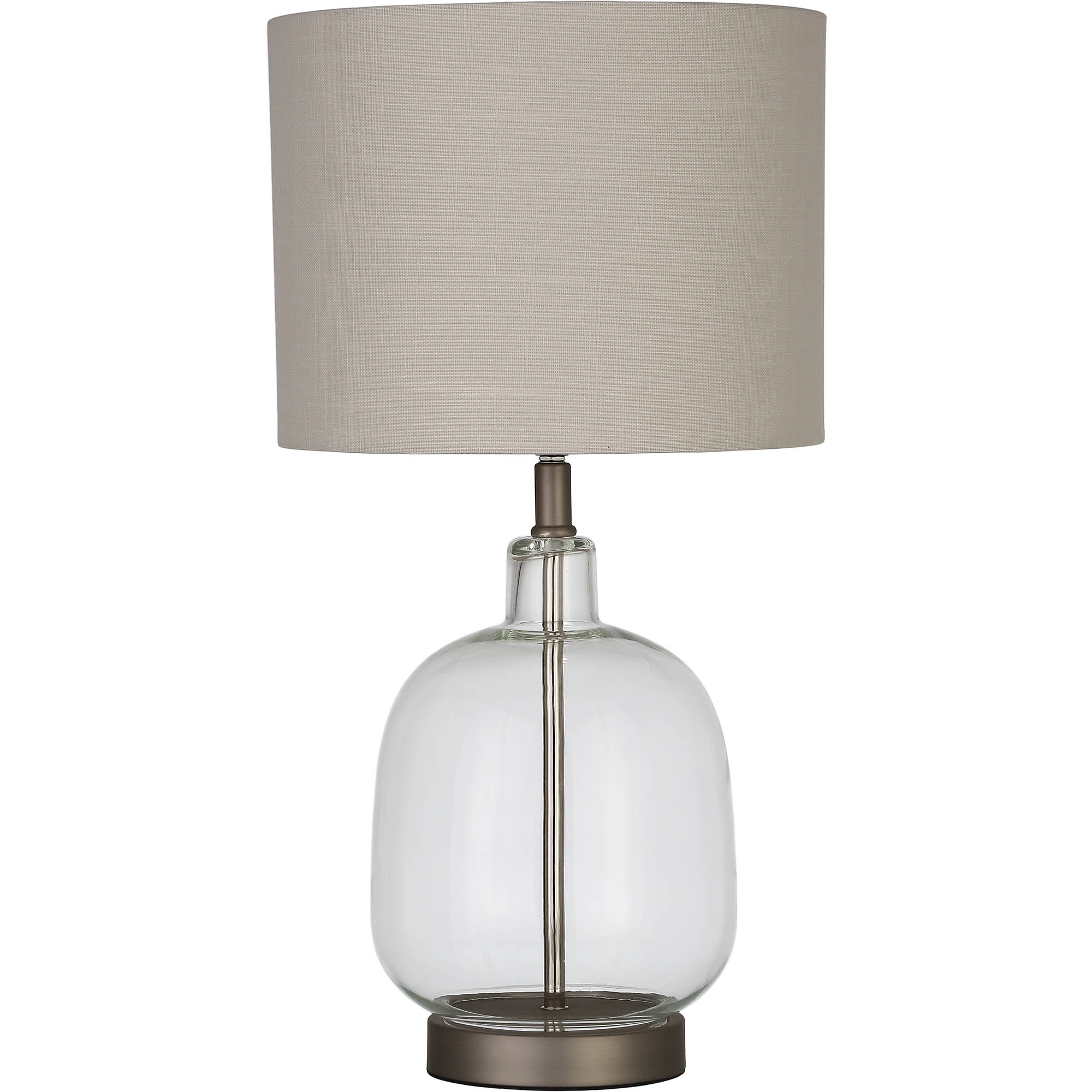 Better Homes and Gardens Clear Glass Lamp Artisan Glass Table Lamp, Easy On Off Switch,... by Albright Lighting Inc