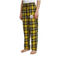 Men's Gold/Black Pittsburgh Steelers Ballot Flannel Lounge Pants