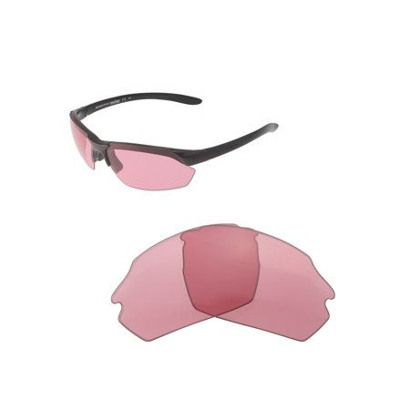 16da0db077 Walleva - Walleva Pink Replacement Lenses for Smith Parallel Max Sunglasses  - Walmart.com