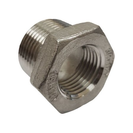 1 4 Npt >> Stainless Steel 316 Pipe Fitting Hex Bushing 1 2 Npt Male X 1 4 Npt Female