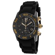 10128-01-Ga Commander Diamonds Chronograph Black Silicone And Dial 37Mm Watch