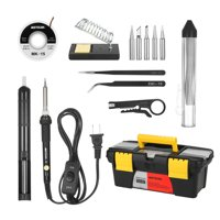 Meterk 14 in 1 Soldering Iron Kit 60W Adjustable Temperature Welding Soldering Iron with ON/OFF Switch