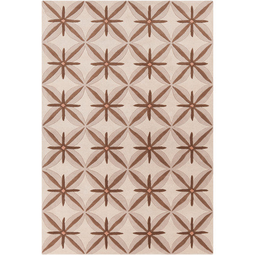 Filament  LLC Cinzia Cream / Brown Abstract Area Rug