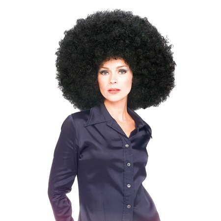 Black Super Afro Halloween Costume Accessory Wig (Conehead Wig Halloween Costumes)