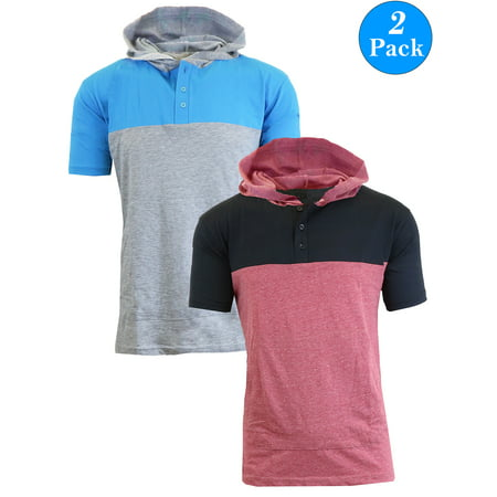 Men's Short Sleeve Slim-Fit Pullover Hoodie