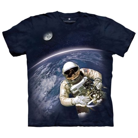 The Mountain Black Cotton First US Spacewalk Adult Smithsonian T-Shirt NEW