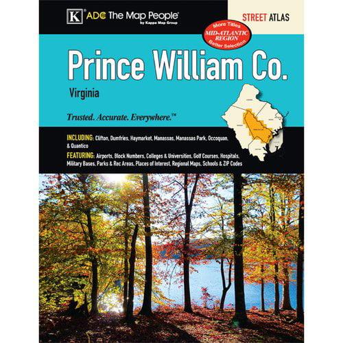 Prince William County Zip Code Map.Universal Map Prince William County Atlas Walmart Com
