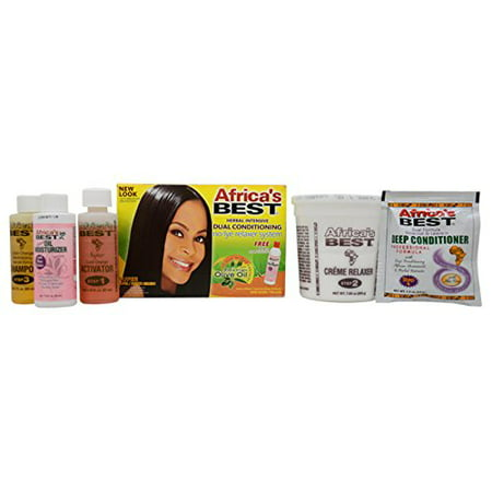 No-Lye Relaxer System Super, Deep penetrating conditioners nourish hair By Africa's