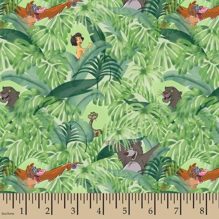 Disney Jungle Book Baloo And Mowgli Cotton Fabric By The Yard