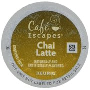 Cafe Escapes CHAI LATTE 48 K-Cups for Keurig Brewers (24 Count, Pack of 2) - Packaging May Vary