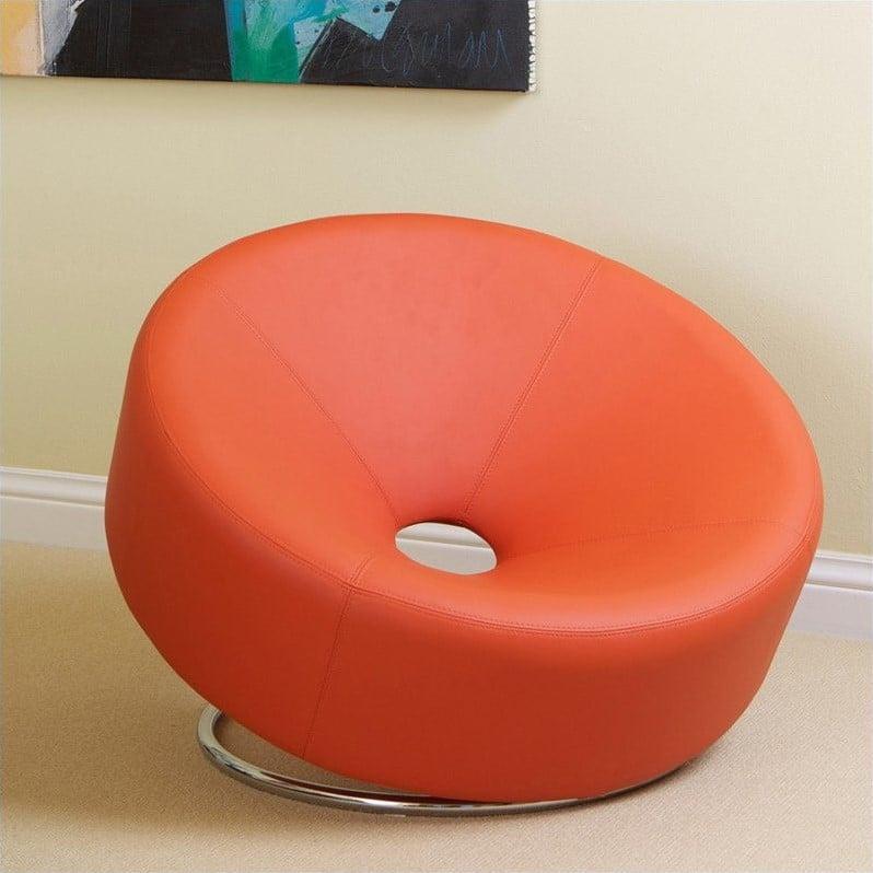 Trent Home Angelino Modern Egg Chair in Orange