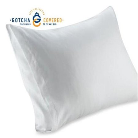 Gotcha Covered Luxe Conventional Standard Pillowcases, White - 1 Pair - image 1 de 1