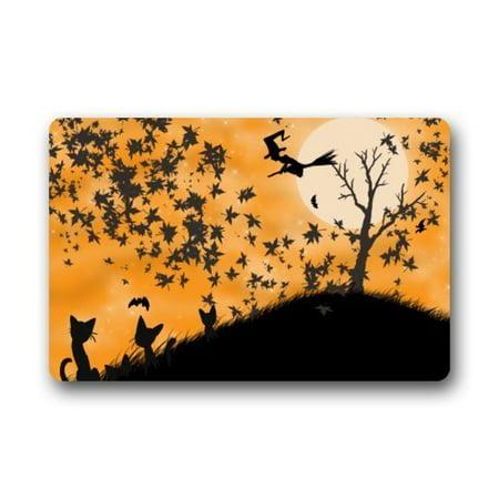 WinHome Halloween Doormat Floor Mats Rugs Outdoors/Indoor Doormat Size 23.6x15.7 inches