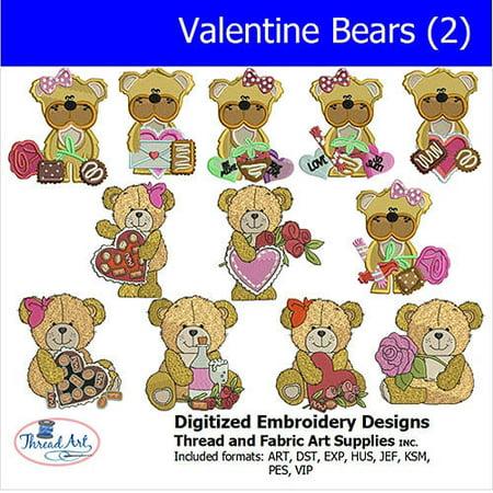 Threadart Machine Embroidery Designs Valentine Bears(2) CD