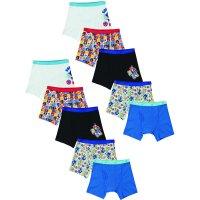 Sonic the Hedgehog Boys Underwear, 10 Pack Boxer Briefs (Little Boys & Big Boys)