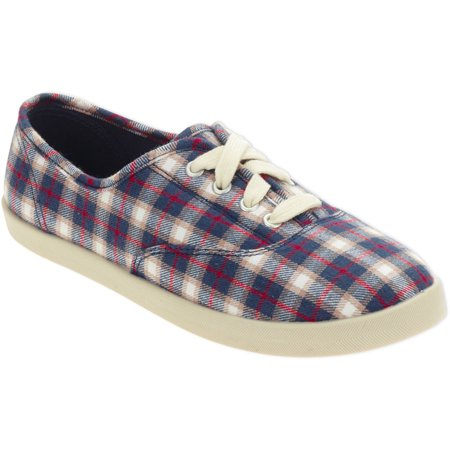 women's casual canvas plaid laceup shoe  walmart