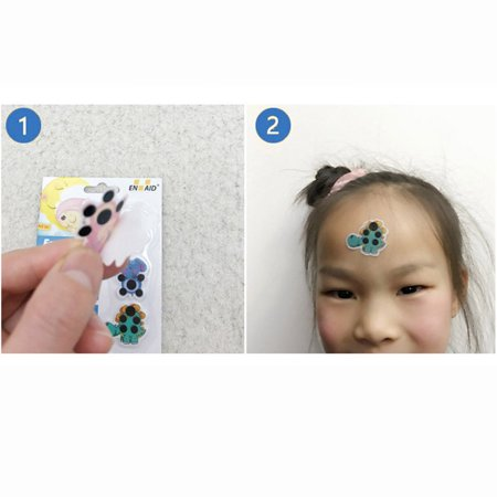 Cartoon forehead thermometer child forehead temperature sticker practical - image 7 de 7
