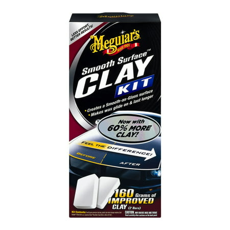 Meguiar's Smooth Surface Clay Kit – Safe and Easy Car Claying for Smooth as Glass Finish –