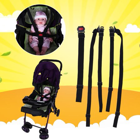 Baby Chair Safety Harness,Adjustable Baby Stroller Safety Strap Kids Dining Chair 5 Point Harness Child Pram Seat Belt by