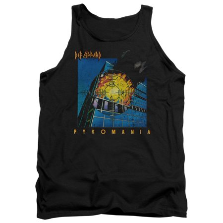 Band Bottom Tank (Def Leppard 80s Heavy Metal Band Pyromania Album Art Adult Tank Top Shirt )