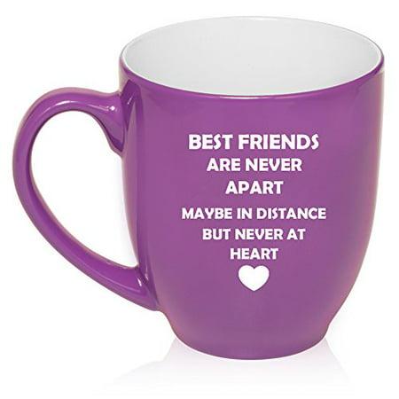 16 oz Large Bistro Mug Ceramic Coffee Tea Glass Cup Best Friends Long Distance Love