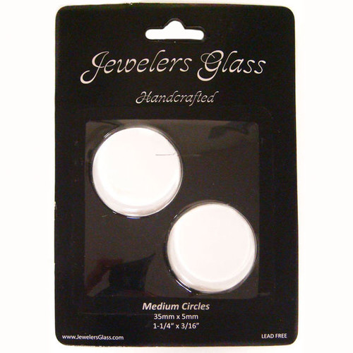 Wholesalers USA 2 Piece Medium Circles Jeweler's Glass Set