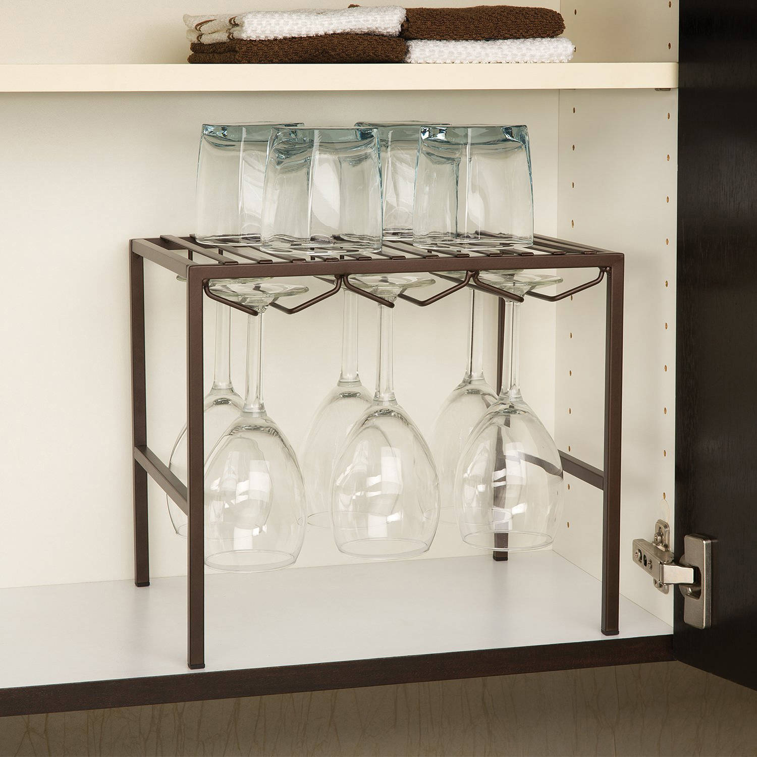 Seville Classics Stemware Holder and Shelf