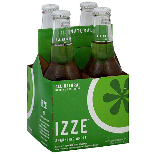 Izze Sparkling Apple Juice, 12 oz (Pack of 6)