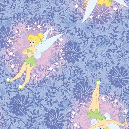 "Creative Cuts Fleece 60"" wide, 1.5 yard cut fabric, Disney Tinker Bell"