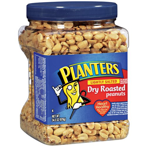 Planters Lightly Salted Dry Roasted Peanuts, 34.5 oz