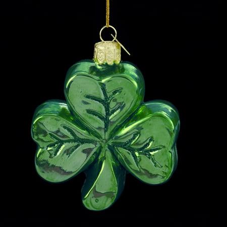 Kurt Adler Noble Gems Glass Shamrock Ornament