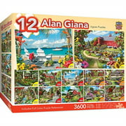 Alan Giana Collection 12-Pack 3600 Piece Puzzle