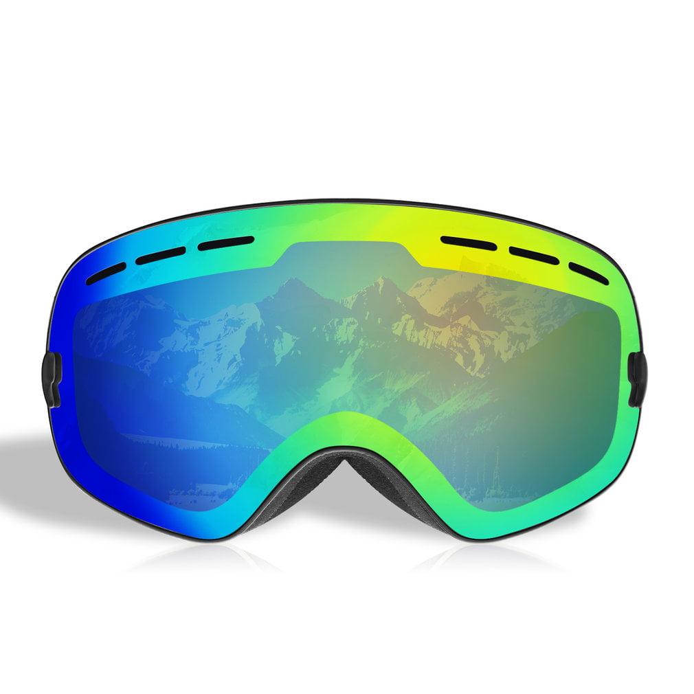 Ski Snowboard Snowmobile Frameless Goggles Magnet Lens UV400 Protection by Bankair