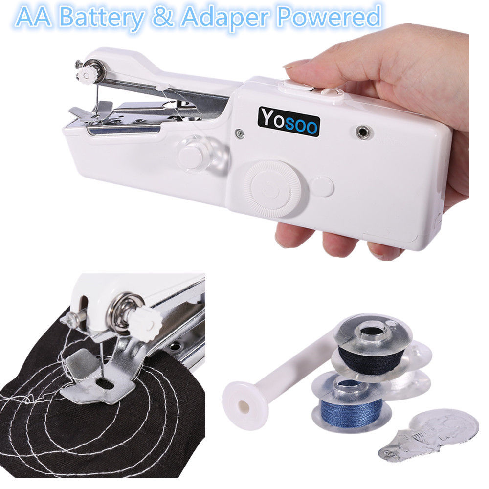 Portable Mini Electric Handheld Sewing Machines,Stitch Sew,Quick Handy Cordless Repair