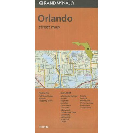 Folded Map Orlando FL Streets - Party City In Orlando Fl