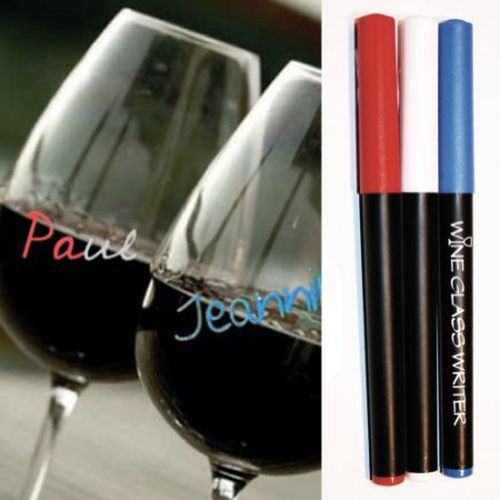Wine Writer Wine Bottle Marker - Red, White, And Blue 3 Pack