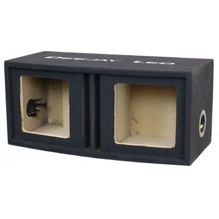 Vented Woofer - Deejayled 2X10SQUAREVENTED Djl 2x10 Square Vented Woofer Box