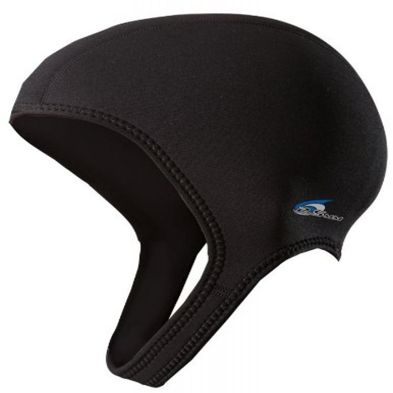 NeoSport Wetsuits Premium Neoprene 2.5mm Sport Cap, Black, X-Large - Diving, Snorkeling & Wakeboarding