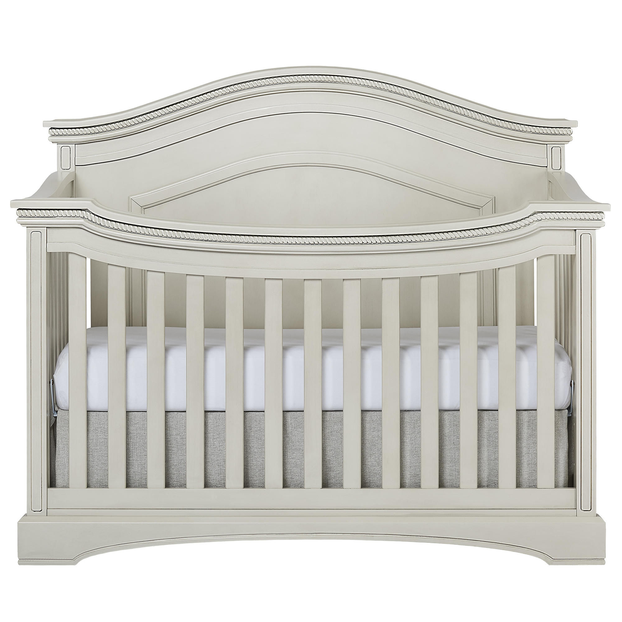 Evolur Adora Curve Top Convertible Crib, Storm Gray by Evolur