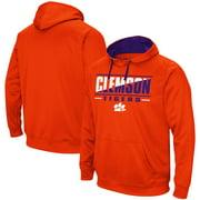 Clemson Tigers Colosseum Dean Slash Stack Pullover Hoodie - Orange