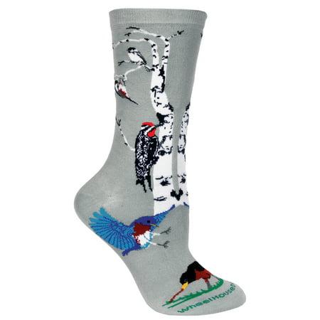 Garden Birds Gray Ladies Socks (Garden Birds Socks)