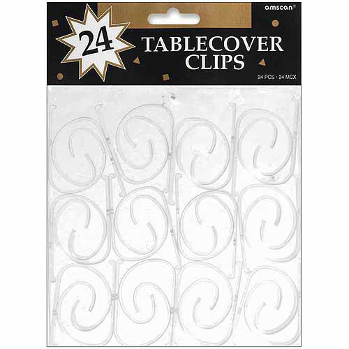 Amscan Tablecover Clips, 24pk