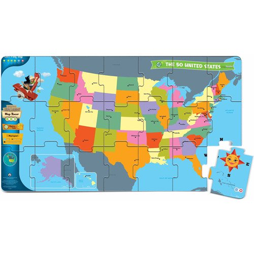 LeapFrog LeapReader Interactive United States Map Puzzle - Walmart.com
