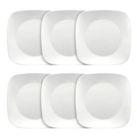 """Corelle Square Pure White 10.5"""" Plate (per plate)"""