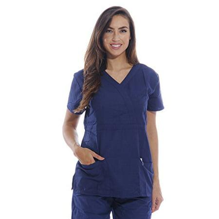664f87a5f7d Dreamcrest - Dreamcrest Ultra Soft Women's Scrub Tops / Medical Scrubs / Nursing  Uniforms - Walmart.com