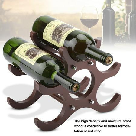 Wooden Six Pack Holder (Red Wine Rack,Zerone Wooden Red Wine Rack Red Wine Holder Shelf Stand 6)