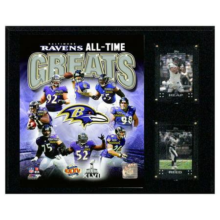 C&I Collectables NFL 12x15 Baltimore Ravens Ravens Greats Plaque
