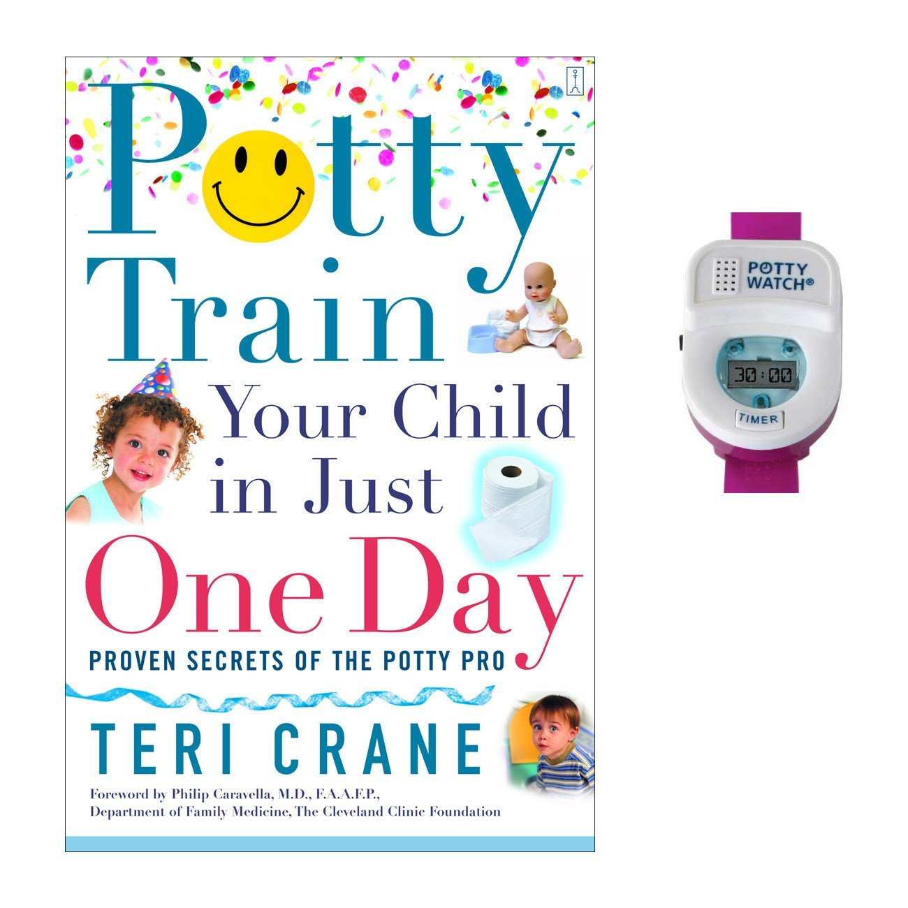 Potty Train Your Child in Just One Day with Potty Watch Training Aid, Pink