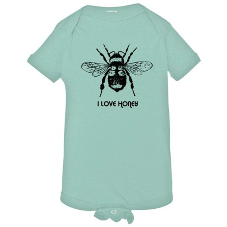 PleaseMeTees™ Baby Save The I Love Honey Bees HQ Jumpsuit ()