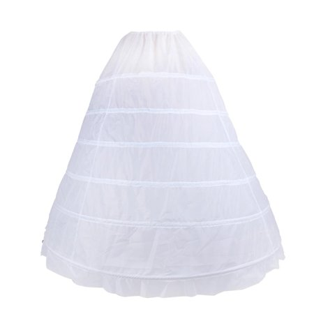 Hilitand Petticoat Adjustable 6-Hoop Mega Full-Sized Wedding Petticoat with Netting Tulle Layers for for Wedding Dress or Holiday Clothing (1 Dress Net)